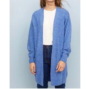 BRAND NEW BLUE Oversized CARDIGAN Soft knit Fabric
